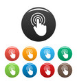 hand cursor web icons set color vector image vector image