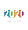 happy new year 2020 background brochure or vector image vector image