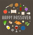 happy passover with icon and element vector image vector image