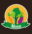 healthy vegetarian food design vector image vector image