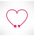 heart made from electric line with plug vector image vector image