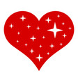 heart with stars icon simple style vector image vector image