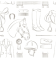 Horse riding pattern vector image vector image