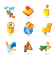 Icons for industry vector image