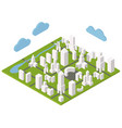 isometric town constructor set for creating your vector image vector image