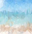 light sea beach polygonal triangular pattern vector image vector image