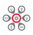 lighting light bulbs icons infographics elements vector image