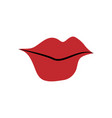 lips mouth icon design template isolated vector image
