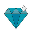 luxury diamond symbol vector image