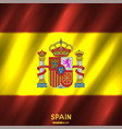 national spain flag background vector image vector image
