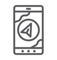 navigation line icon gps and location arrow on vector image vector image