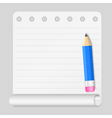 Notebook Paper vector image vector image