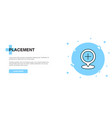 placement icon banner outline template concept vector image