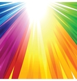 Rainbow Lines Background vector image vector image