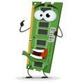 ram memory card character vector image