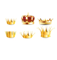 realistic crown vector image