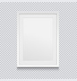realistic white picture or photo frame isolated on vector image