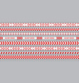 red police line set caution and danger tape for vector image vector image