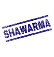 scratched textured shawarma stamp seal vector image
