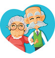 senior couple in love cartoon vector image vector image