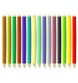 Set of Colorful Pencils vector image vector image