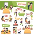 Set Of Daily People vector image vector image
