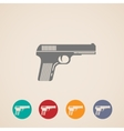 set of gun icons vector image