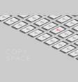 smartphones black color isometric flat design vector image vector image