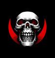 smiling skull vector image vector image