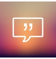 Speech bubble with punctuation symbol thin line vector image vector image