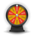 spinning wheel of fortune 3d realistic style vector image vector image