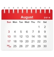 stylish calendar page for august 2014
