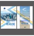 template design annual report 2017 vector image