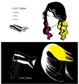 template for hair salon vector image vector image