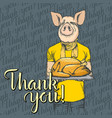 thanksgiving pig concept vector image