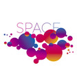 trendy round planet shapes laconic composition vector image