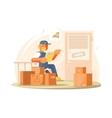 Uniformed deliveryman character vector image vector image