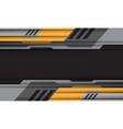 yellow grey cyber pattern on dark grey vector image vector image