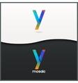 letter Y logo alphabet mosaic icon set background vector image