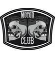 motor club skull vector image