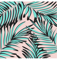 tropical palm leaf background floral vector image