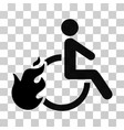fired disabled person icon vector image