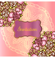 Vintage valentine or wedding invitration card with vector image