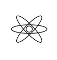 physics atom electron nuclear icon vector image