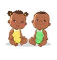 Two cute little babies vector image