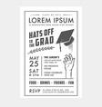 Vintage graduation party invitation card vector image