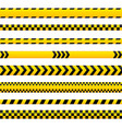 abstract caution tape yellow danger lines empty vector image vector image