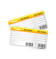 Air tickets isolated on white vector image vector image