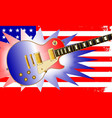american guitar and flag vector image vector image