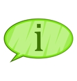 Answer icon cartoon style vector image vector image